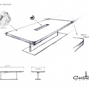 table-de-presentation-custom-design